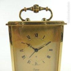 Despertadores antiguos: PRECIOSO RELOJ DE SOBREMESA DESPERTADOR, SWIZA, CARGA MANUAL.. Lote 146140614