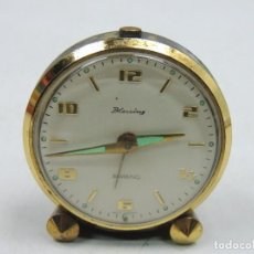 Despertadores antiguos: EXCELENTE RELOJ DESPERTADOR BAMBINO PIEZA DE DECORACION O USO. Lote 146142686
