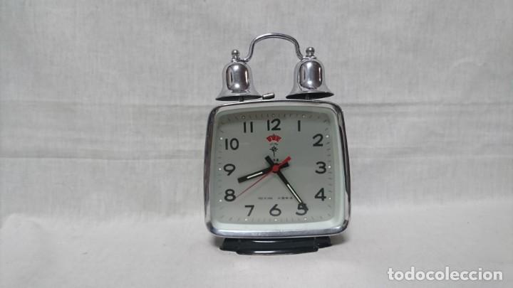 RELOJ DESPERTADOR POLARIS, CARGA MANUAL (Relojes - Relojes Despertadores)