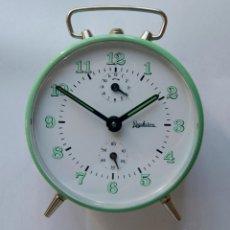 Despertadores antiguos: DESPERTADOR MECANICO MARCA REGULADORA NOS (NEW OLD STOCK). Lote 182863818