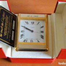 Despertadores antiguos: LE MUST DE CARTIER, RELOJ DESPERTADOR - AÑOS 80. Lote 147152170
