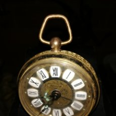 Despertadores antiguos: ANTIGUO RELOJ DESPERTADOR DE BRONCE. Lote 152591058