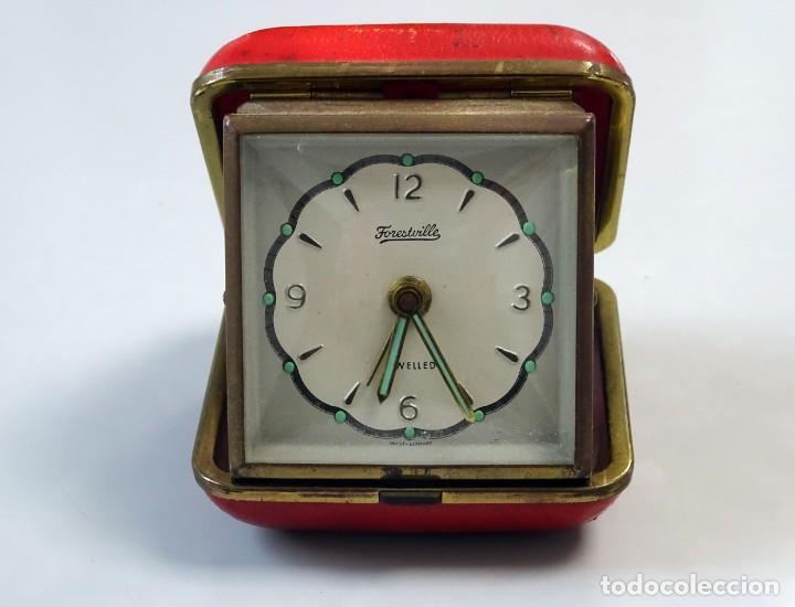 Despertadores antiguos: RELOJ DESPERTADOR DE VIAJE, estuche de PIEL, alemán, carga manual - Foto 7 - 147491834