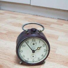 Despertadores antiguos: RELOJ DESPERTADOR MARCA KIENZLE DUO. Lote 148043178