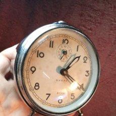 Despertadores antiguos: DESPERTADOR ZAFIRO DUCAL - RARO MODELO - FUNCIONANDO. Lote 148079254
