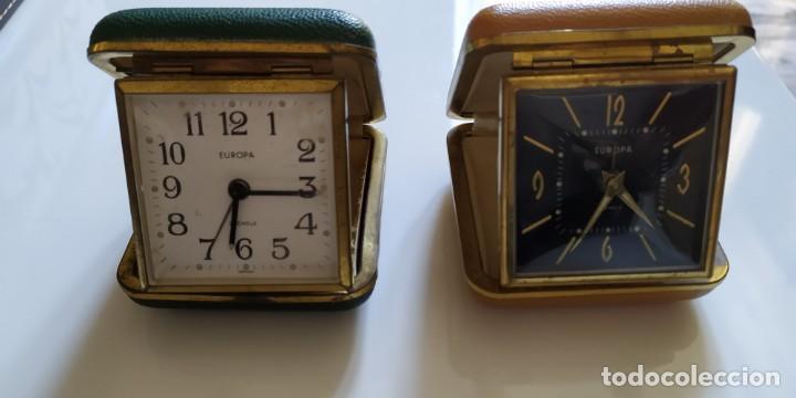 2 RELOJES DE VIAJE CON TAPA (Relojes - Relojes Despertadores)