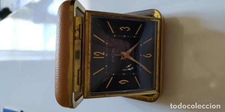 Despertadores antiguos: 2 relojes de viaje con tapa - Foto 2 - 148413486