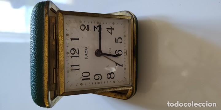 Despertadores antiguos: 2 relojes de viaje con tapa - Foto 3 - 148413486