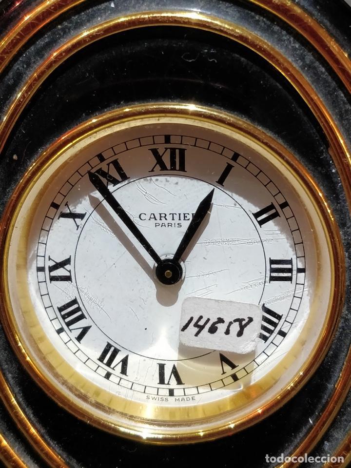 Despertadores antiguos: Reloj despertador CARTIER Paris, swiss made, 10x8.5cm, Funcionando. - Foto 2 - 150190222