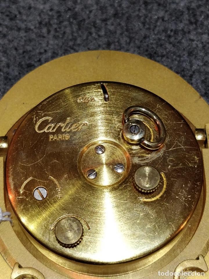 Despertadores antiguos: Reloj despertador CARTIER Paris, swiss made, 10x8.5cm, Funcionando. - Foto 6 - 150190222