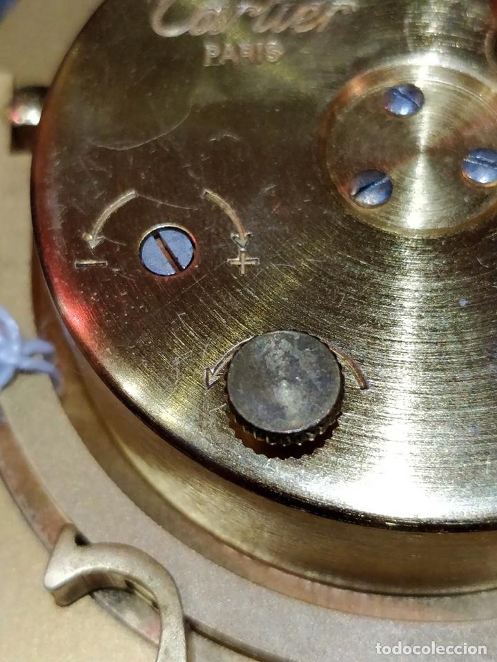 Despertadores antiguos: Reloj despertador CARTIER Paris, swiss made, 10x8.5cm, Funcionando. - Foto 8 - 150190222
