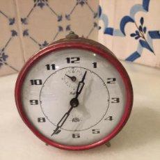 Despertadores antiguos: ANTIGUO DESPERTADOR DE CAMPANA DE METAL NIQUELADO MARCA ALBA DE LOS AÑOS 50-60. Lote 150630970