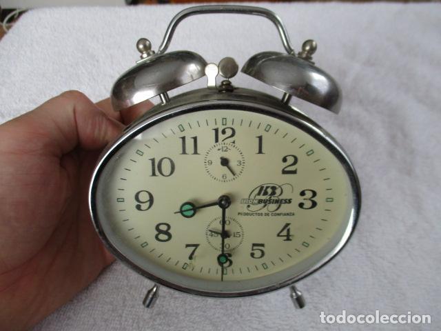 PRECIOSO DESPERTADOR VINTAGE DE IRON BUSINESS IB, PRODUCTOS DE CONFIANZA - FUNCIONA (Relojes - Relojes Despertadores)