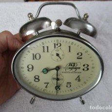 Despertadores antiguos: PRECIOSO DESPERTADOR VINTAGE DE IRON BUSINESS IB, PRODUCTOS DE CONFIANZA - FUNCIONA. Lote 152904306