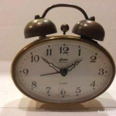 Despertadores antiguos: RELOJ DESPERTADOR LINDEN BLACK FOREST - ALEMANIA - FUNCIONANDO. Lote 153787038