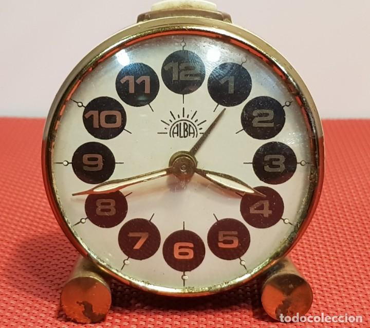 Despertadores antiguos: ANTIGUO DESPERTADOR ALBA - Foto 2 - 153880950