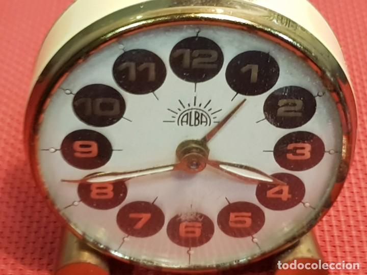 Despertadores antiguos: ANTIGUO DESPERTADOR ALBA - Foto 6 - 153880950