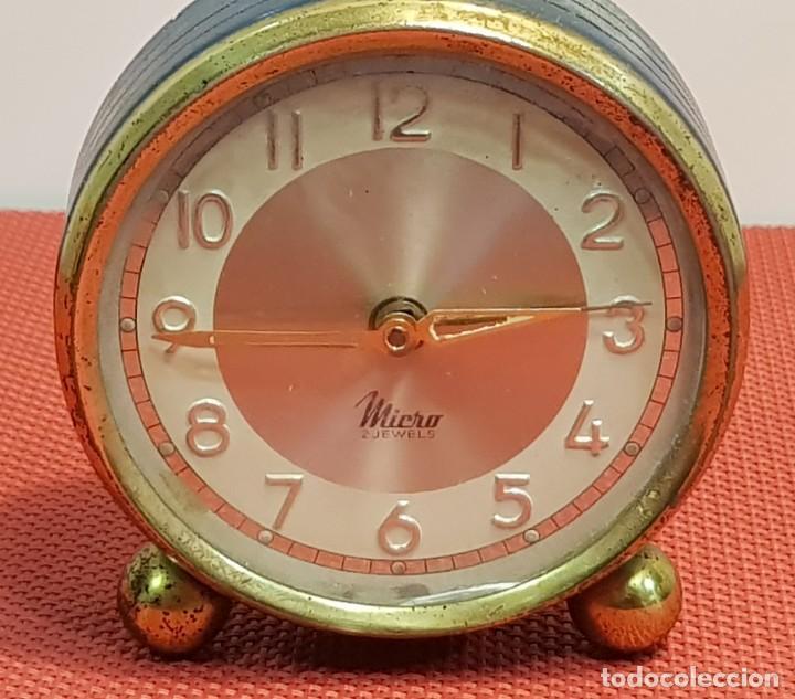 Despertadores antiguos: ANTIGUO DESPERTADOR MICRO 2 JEWELS - Foto 2 - 153881766