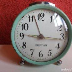 Despertadores antiguos: RELOJ DESPERTADOR DE CUERDA GANG. Lote 185876037