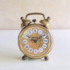 Despertadores antiguos: RELOJ DESPERTADOR ALEMAN MARCA BLESSING REPARADO VINTAGE GERMAN ALARM CLOCK. Lote 154718202