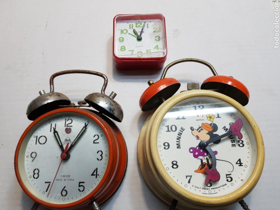 RELOJES DESPERTADORES BRADLEY Y OTROS LOTE 3 (Relojes - Relojes Despertadores)