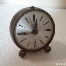 Despertadores antiguos: RELOJ DESPERTADOR OBAYARDO. HECHO EN ESPAÑA. FUNCIONA. Lote 155498610