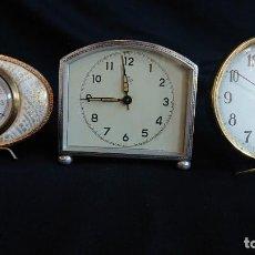 Despertadores antiguos: LOTE DE RELOJES DESPERTADORES. Lote 156263546