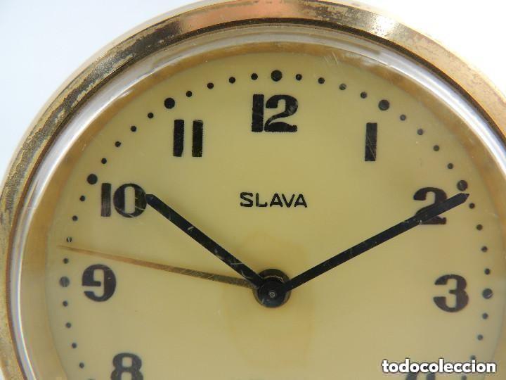 Despertadores antiguos: Antiguo Reloj Despertador a Cuerda Marca Slava Años 60-70 Era Comunista - Foto 2 - 156556810