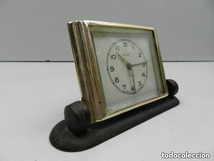 Despertadores antiguos: Antiguo Reloj Despertador a Cuerda Marca Slava Años 60-70- Vintage - Foto 2 - 156556958