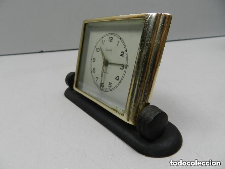 Despertadores antiguos: Antiguo Reloj Despertador a Cuerda Marca Slava Años 60-70- Vintage - Foto 5 - 156556958