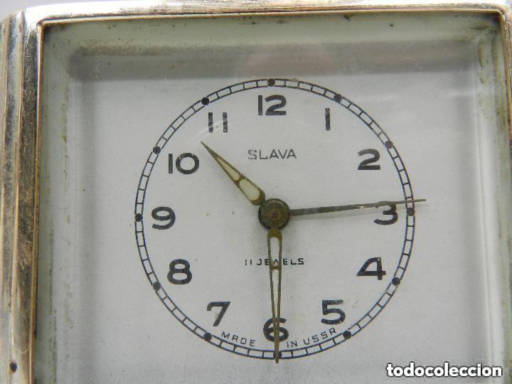 Despertadores antiguos: Antiguo Reloj Despertador a Cuerda Marca Slava Años 60-70- Vintage - Foto 6 - 156556958