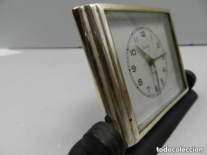 Despertadores antiguos: Antiguo Reloj Despertador a Cuerda Marca Slava Años 60-70- Vintage - Foto 7 - 156556958