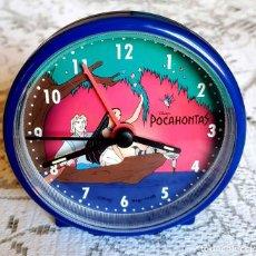 Despertadores antiguos: RELOJ POCAHONTAS, VINTAGE, NUEVO. Lote 157660830