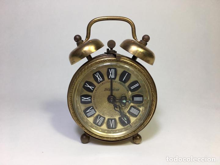 RELOJ DESPERTADOR BLESSING DAMASCODE DOBLE CAMPANA WEST GERMANY CIRCA 1960`S - LA OPALINA (Relojes - Relojes Despertadores)