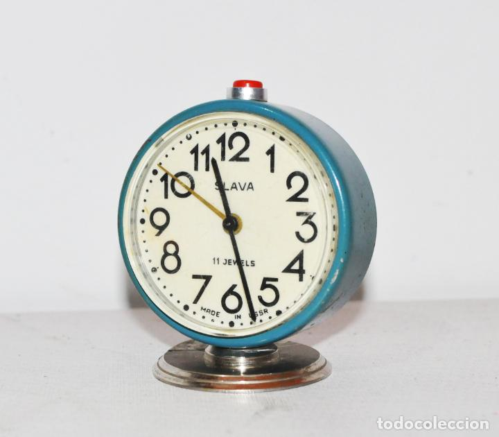 RELOJ DESPERTADOR SOVIETICO.SLAVA .URSS (Relojes - Relojes Despertadores)