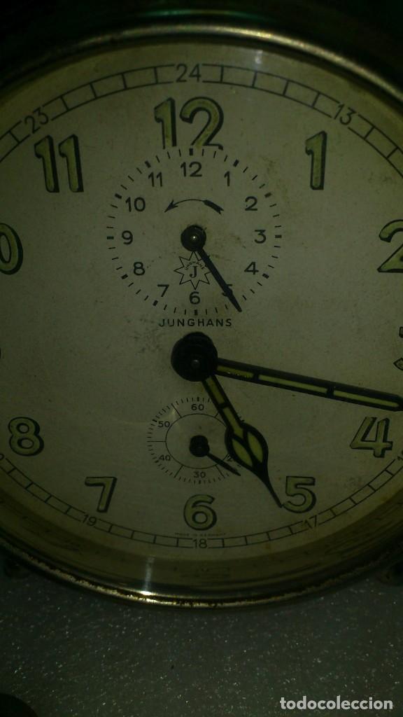 Despertadores antiguos: reloj despertador sobremesa cuerda manual - Foto 2 - 159789230