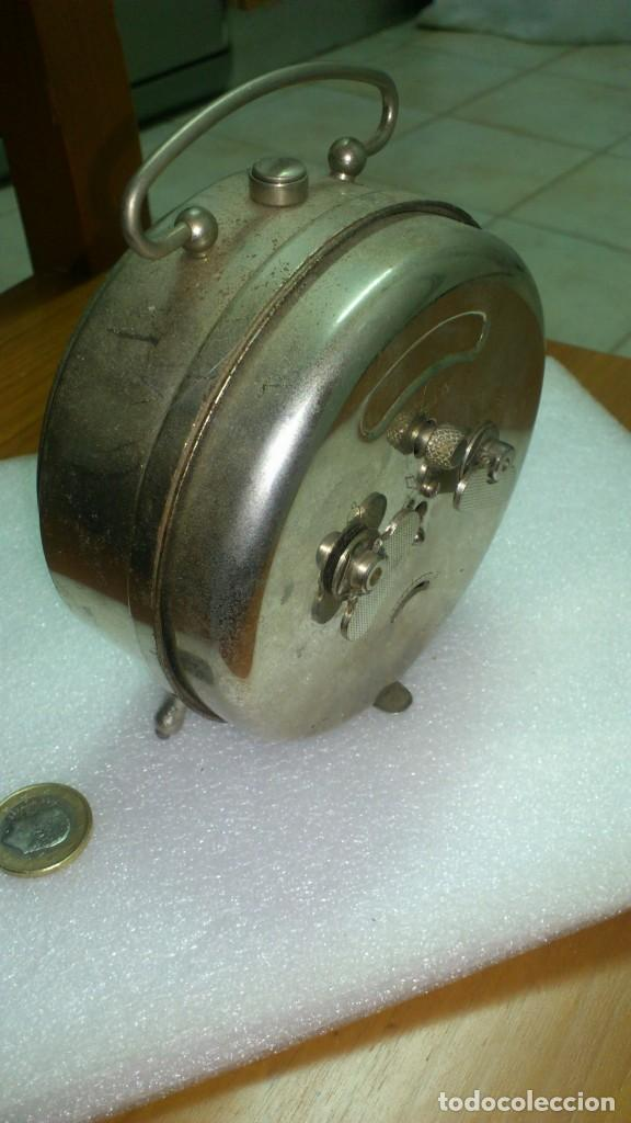 Despertadores antiguos: reloj despertador sobremesa cuerda manual - Foto 3 - 159789230