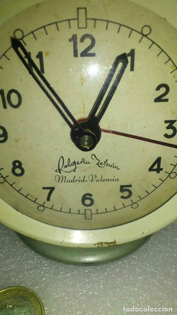 Despertadores antiguos: reloj despertador sobremesa cuerda manual - Foto 2 - 159817230