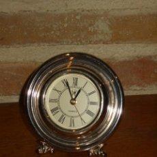 Despertadores antiguos: RELOJ DESPERTADOR DE PLATA DE LEY,JOYERIA.. Lote 159912094