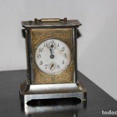 Despertadores antiguos: ANTIGUO RELOJ DE CARRUAJE DE 3 CUERDAS . Lote 160278082