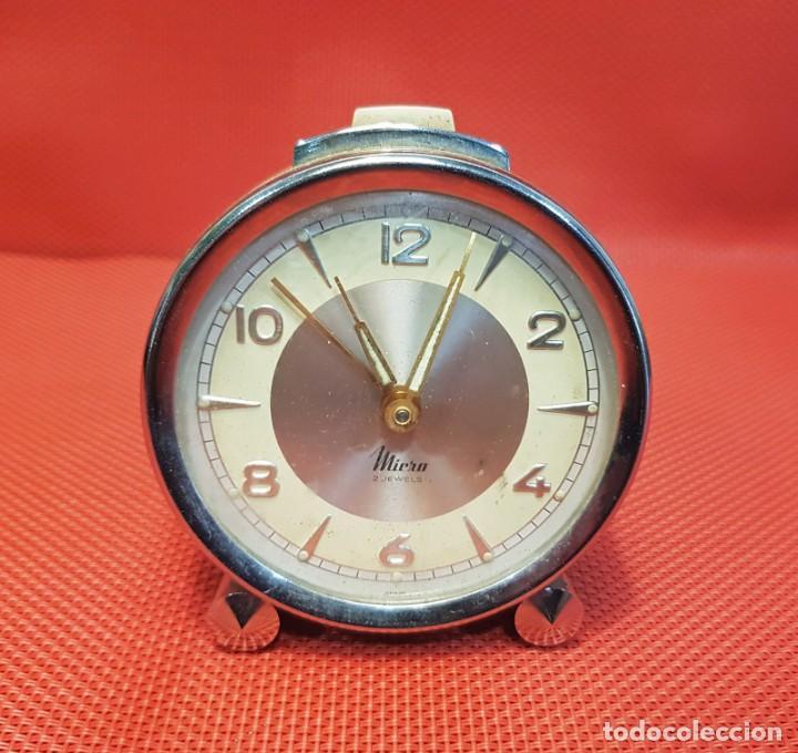 ANTIGUO DESPERTADOR MICRO 2 JEWELS (Relojes - Relojes Despertadores)