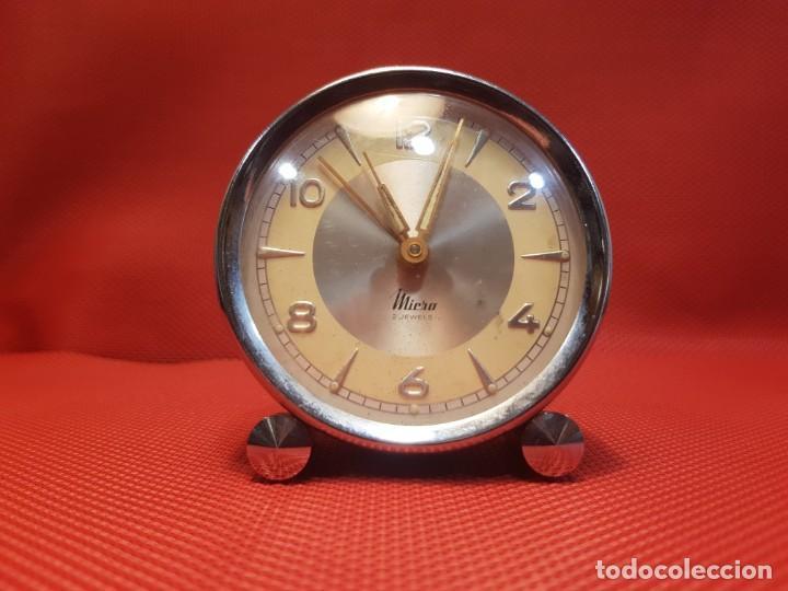 Despertadores antiguos: ANTIGUO DESPERTADOR MICRO 2 JEWELS - Foto 2 - 160678542