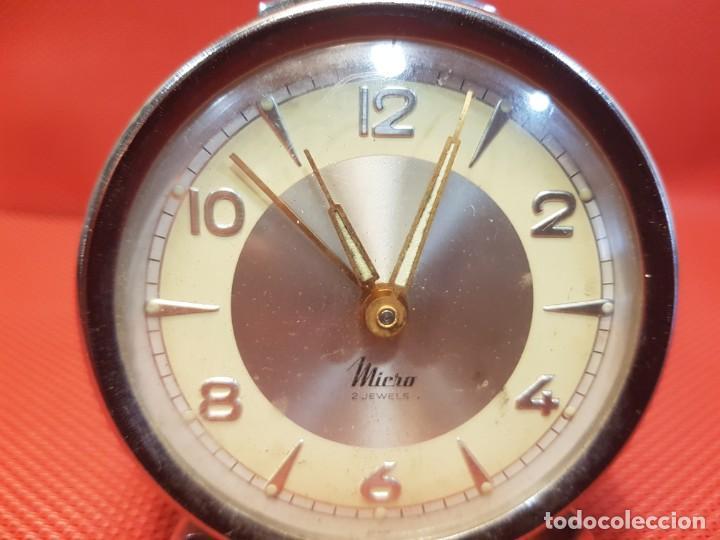 Despertadores antiguos: ANTIGUO DESPERTADOR MICRO 2 JEWELS - Foto 6 - 160678542