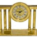 Despertadores antiguos: ESPECTACULAR RELOJ DESPERTADOR, DE ORIGEN FRANCES, DE CUERDA MANUAL, CON SONERIA.. Lote 160744054