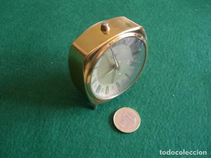 Despertadores antiguos: Reloj de sobremesa mesilla despertador - Foto 5 - 161438158