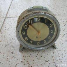 Despertadores antiguos: DESPERTADOR MICRO DE METAL FUNCIONANDO. Lote 161571726