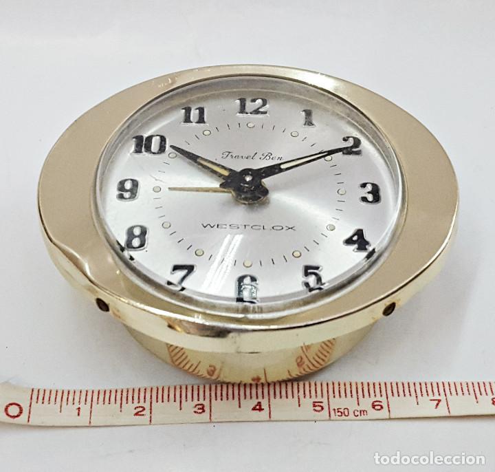 Despertadores antiguos: Reloj despertador a cuerda TRAVEL BEN. - Foto 2 - 162628794