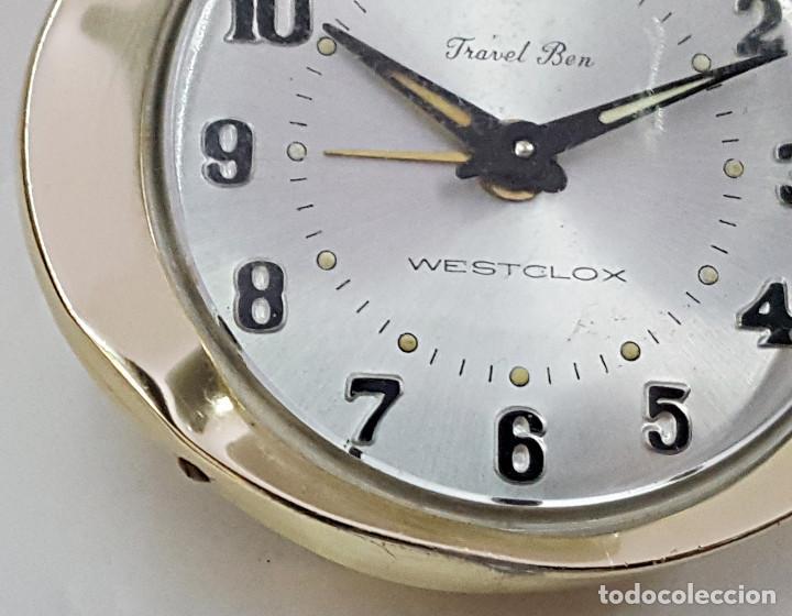 Despertadores antiguos: Reloj despertador a cuerda TRAVEL BEN. - Foto 5 - 162628794