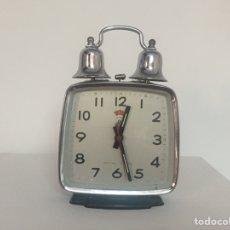 Despertadores antiguos: RELOJ DESPERTADOR DOBLE CAMPANA POLARIS. Lote 162897033