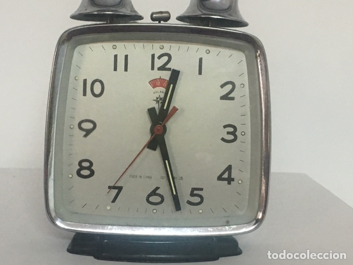 Despertadores antiguos: Reloj despertador doble campana polaris - Foto 2 - 162897033